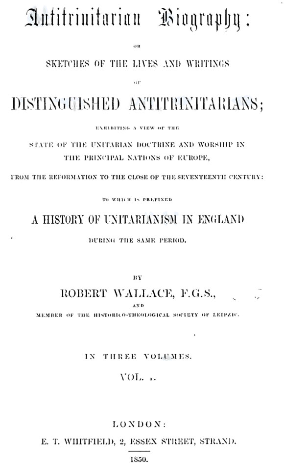 Antitrinitarian Biography