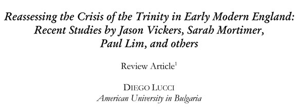 Debates on the Trinity in two crucial periods of English history